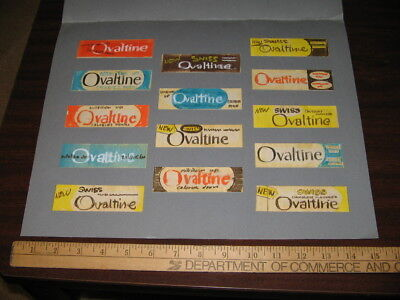 OVALTINE 1960s original production concept art product jar labels kid drink mix
