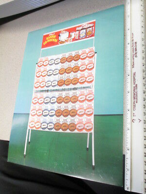 Kelloggs cereal box store display sales sheet 1960s DANISH GO ROUNDS Pop Tarts
