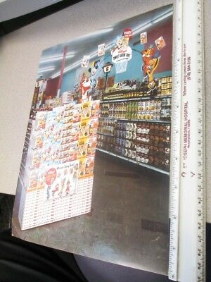 Kelloggs cereal box store display sheet 1960s Quick Draw McGraw HUCK Snagglepuss