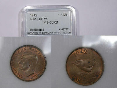 1942 Gb Farthing High Grade U Grade It Inv#307B-8