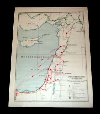 EGYPTIAN EXPEDITIONARY FORCE, PALESTINE LINES OF COMMUNICATION  Oct 1918 Pl54