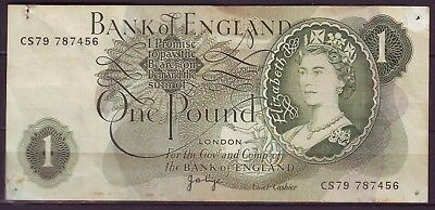 Great Britain Uk 1 Pound 1970 J. B. Page Banknote Circulated $1 Shipping