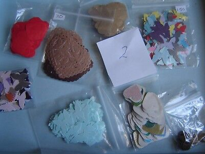 JOB LOT Craft Clearout Wedding Confetti Butterly Heart Punchies Mixed Colours 2