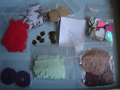 JOB LOT Craft Clearout Wedding Confetti Butterly Heart Punchies Mixed Colours 3