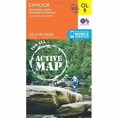 OS Explorer ACTIVE OL9 Exmoor (OS Explorer Map Active) - Map NEW Ordnance Survey