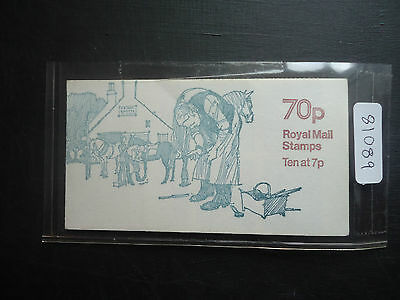 Great Britain 1978 70p Booklet Horse Shoeing (LM) (FD2A) (Average Perfs) Cyl 11