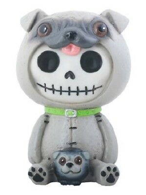 Furrybones Pugsly Skeleton Dressed in a Pug Dog Costume Figurine Statuette New