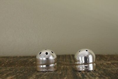 "2 sterling SALT & pepper SHAKER TOPS / LIDS ½"" x ½"" XLNT!"