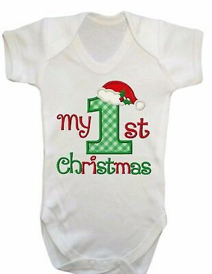 Baby 1St Christmas,first Xmas Bodysuit Vest,babygrow,romper,gift,baby Clothes