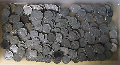 5 Rolls (200 coins) Buffalo/Indian Head Nickels - No/Part Dates - No Reserve