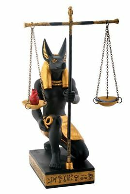 Ancient Egyptian Anubis God of the Afterlife with Scales of Justice Figurine