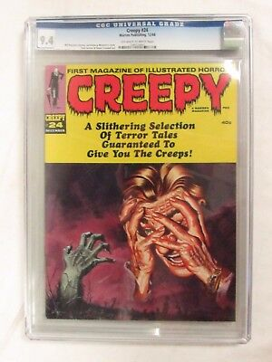 Creepy #24 (1968) CGC 9.4 Warren Publishing Magazine Horror CJ76