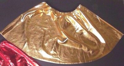 NWOT Gold Metallic Spandex Dance Costuming Skirt Dance Tap Show Adult Sizes