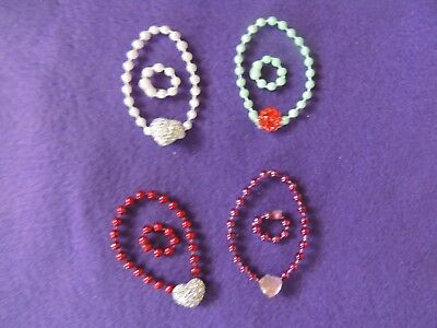 Set #3 Doll FUN JEWELRY Necklace and bracelets handmade for Barbie  LOT of 4