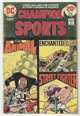 Champion Sports 2! Fr/gd 1.5! Great Bronze Age Dc Comic Book!