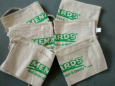 Lot of 6 Menards canvas nail apron cash pouch