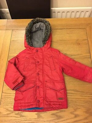 Ted Baker Toddler Boys Parka Coat 18-24 Months Age 2-3 Fleece Lined Warm Winter