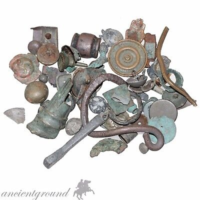 Stunnign Lot Of Ancient Greek Celtic Roman Byzantine & Medieval Bronze Artifacts