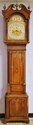 Antique English 3 Weight Musical 8 Bell Regulator Grandfather Longcase Clock