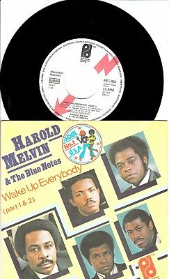"""7""""- Harold Melvin & The Blue Notes  = Wake Up Everybody (Weiss-Label-Pressung)"""