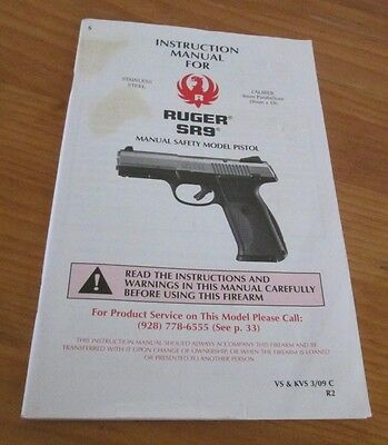 ruger sr 1911 pistol owners instruction manual sr1911 45 cal rh picclick com Ruger M77 Hawkeye 30 06 6.5 Creedmoor Ruger M77 Hawkeye
