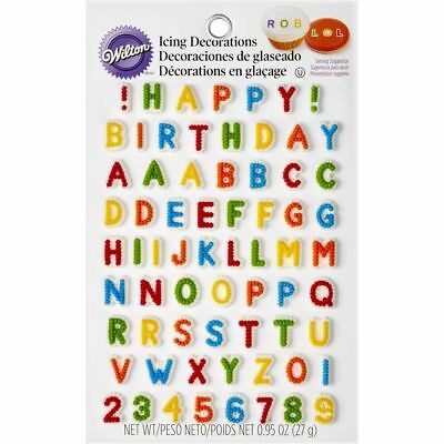 Wilton 710-6042 Alphabet Letters & Numbers Edible Icing Cake Cupcake Decorations