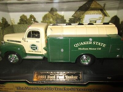 Golden Wheel Hall Fame Collection Quaker State Oil 51 Ford Fuel Tanker 1/25 MIB