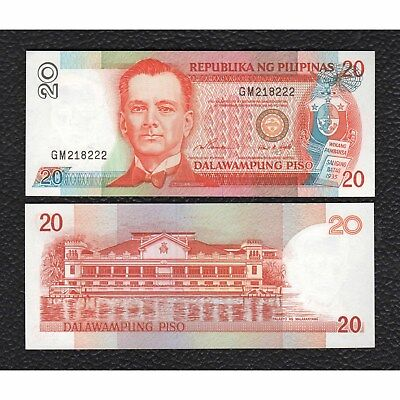 Philippines P-182b  ND(1997) sign. 14 Black Serial  20 Piso - Crisp Uncirculated
