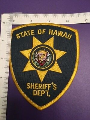 State Of Hawaii Sheriff Dept  Shoulder Patch