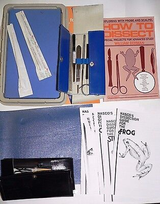How to Dissect by William Berman and dissection kit, used homeschool misc set