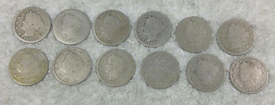 V-Nickels 1883 w/cents through1896 (no 85 or 86) - free shipping