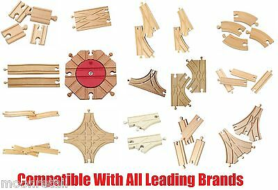 Wooden TRAIN TRACKS Set Railway Accessory Bundle Activity Playset Toy Compatible