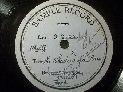 "HOWARD GODFREY & HIS BAND ""The Shadow Of A Rose"" Sample Record 78rpm 10"""