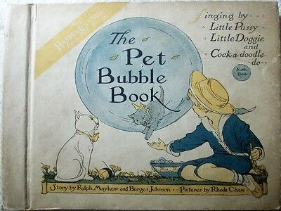 "rarest Bubble Book ""THE PET"" inc. 3 records  14cm  for Toyphonographs 78rpm"