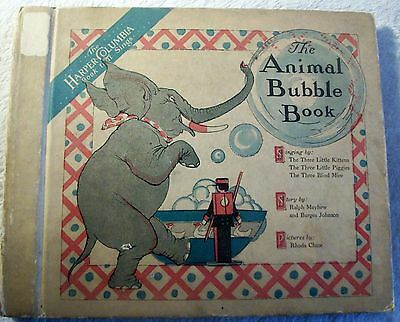 "rarest Bubble Book ""The Animals Bubble Book"" inc. 1 rec 14cm  for Toyphonographs"