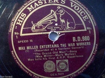 MAX MILLER ENTERTAINS THE WAR WORKERS - Recorded at a Canteen Concert - rare 10""