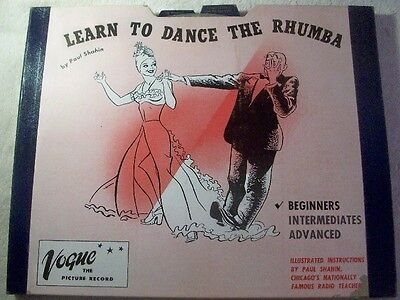 """PAUL SHAHIN """"Learn To Dance The Rhumba"""" Vogue Album No. V102-1  picture records"""