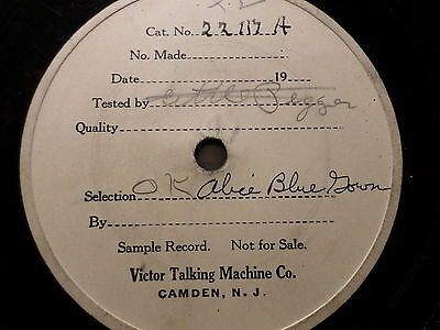 "ALICE BLUE GOWN - Victor - 78rpm 12"" very rare test record - shellac record"
