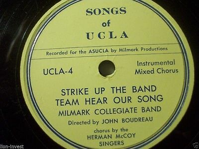 "SONG OF UCLA Los Angeles ""Hail Blue & Gold"" John Boudreau ultrarar 2 Rec.Set 10"""