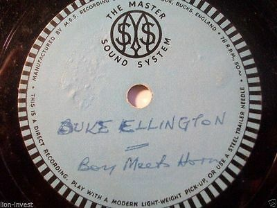 "DUKE ELLINGTON ""Boy Meets Horn"" rarest private recording Alu. Base Actetate 10"""