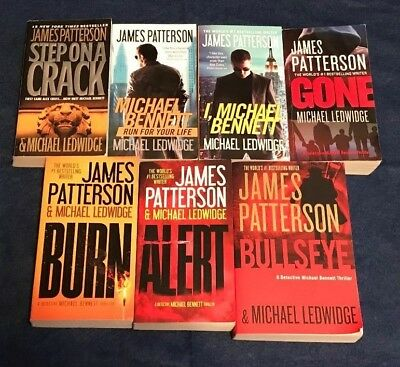LOT of 7 MICHAEL BENNETT MYSTERIES by JAMES PATTERSON, Step On A Crack, Bullseye
