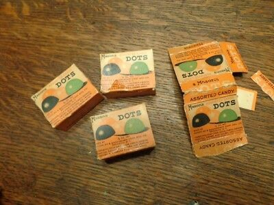 4 Vintage Mason's Dot's Assorted Candy Advertising Boxes