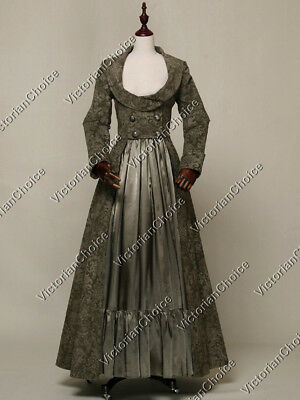 Victorian Sherlock Holmes Coat Dress Steampunk Reenactment Clothing C058 L