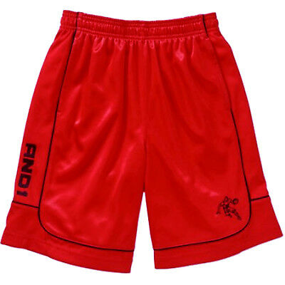 NEW Boys AND1 Red Dazzle All Court Athletic Basketball Shorts Small 6-7