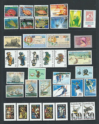"""1984 Australia """"The Collection of 1984 Australian Stamps"""" Complete Set:MUH"""