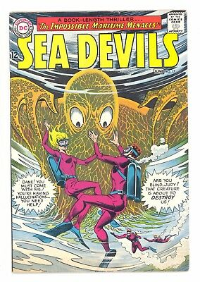 SEA DEVILS #17  DC 1964 - Howard Purcell Art - FN