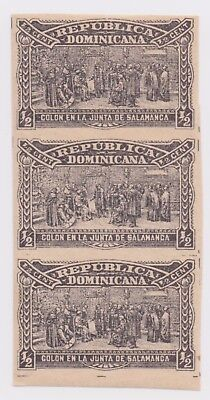 1900 Dominican Republic - Columbus Mausoleum - Block 3 x 1/2 Centavos Stamp