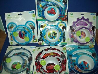 DISNEY First Years  Baby 4 Piece Feeding Set FINDING DORY NEMO MICKEY CARS New