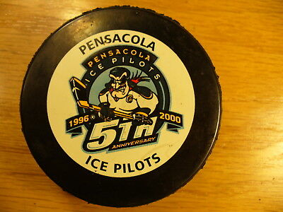 ECHL Pensacola Ice Pilots 5th Anniversary Adams Game Hockey Puck Collect Pucks