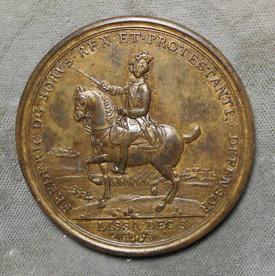 Germany Frederick The Great 1757 Lissa & Rosbach Campaign Medal Protestants